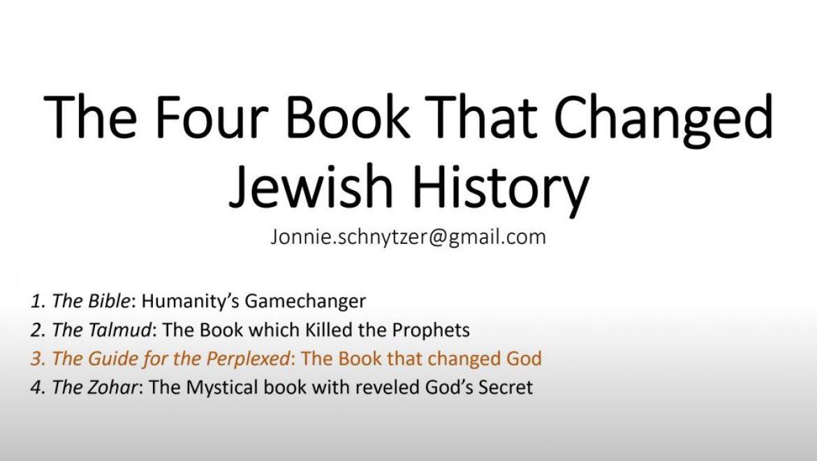 The Four Books that Changed Jewish History – The Guide for the Perplexed-The Book that changed God
