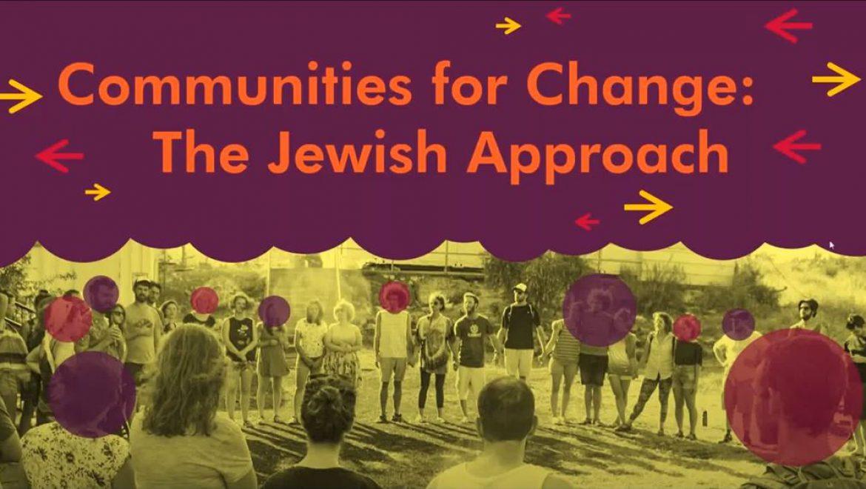 Barak Sella – Communities for Change: The Jewish Approach