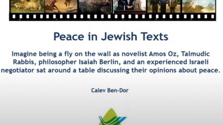 Calev Ben Dor – Peace in Jewish texts