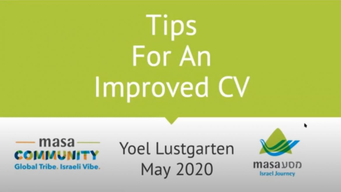 Tips for an improved CV!