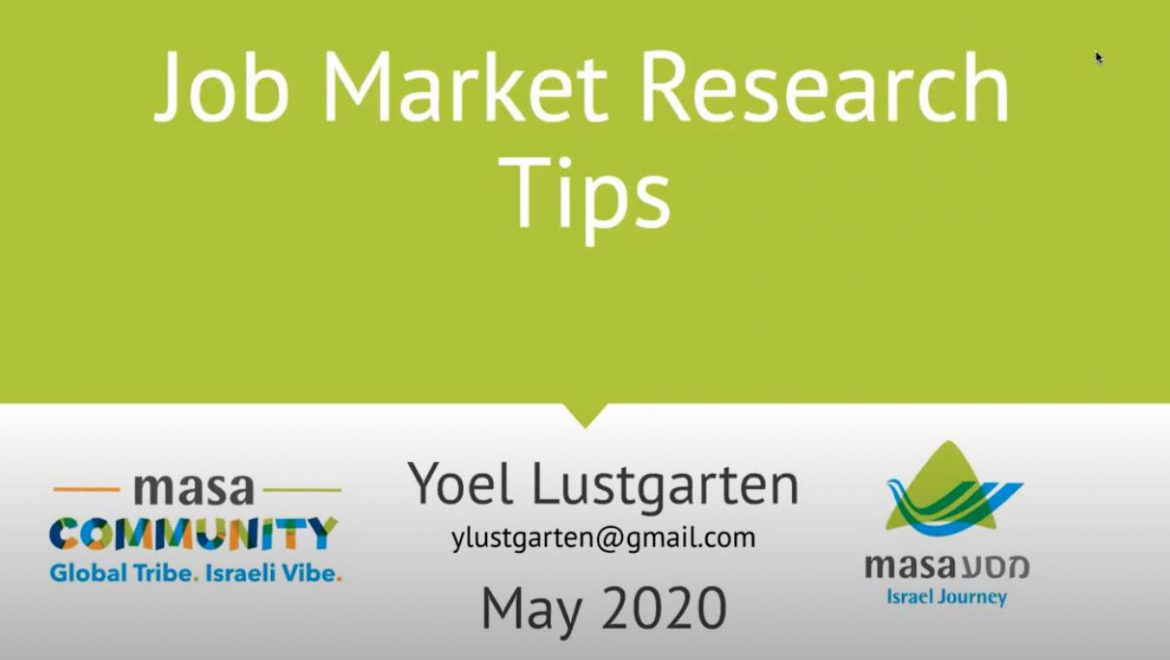 How to do Job Market Research