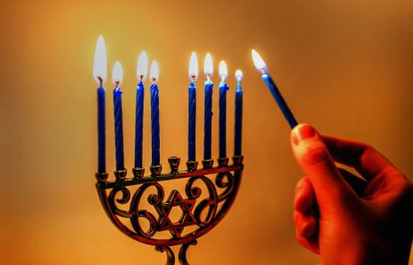 Text of Traditional Hannukah Candle-lighting Blessings & Songs