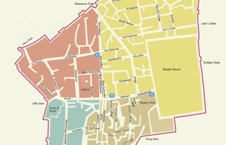 Maps of Each of the Four Quarters of the Old City