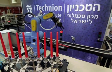 Lighting the Hanukkah Candles with a Rube Goldberg Machine