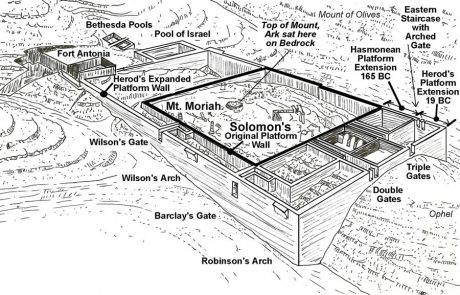 Diagram of the Temple Mount Expansions