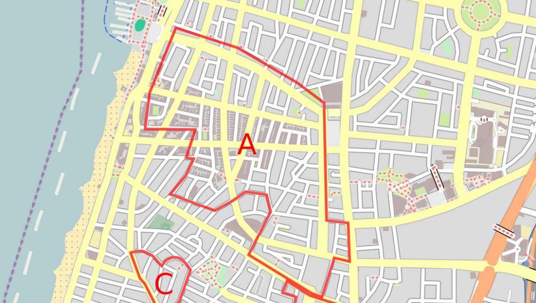 Map of the White City of Tel Aviv